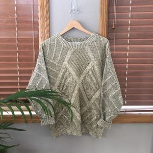 Vintage Sage Knit Sweater